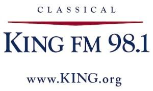 KING FM logo Full-color -white box with margin