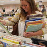 HUGE Book Sale 2016 - Teacher browsing