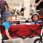 HUGE Book Sale 2016 - Kids in Wagon